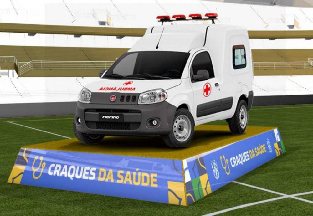 A Fiat Fiorino Ambulância é equipada com itens de série específicos para o transporte seguro e rápido de pacientes