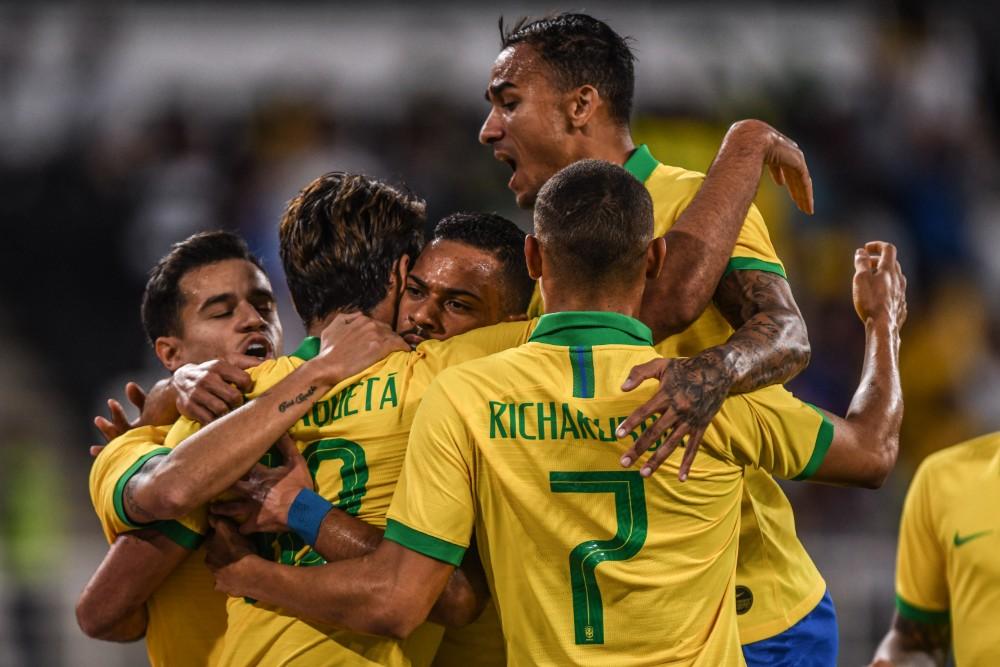 Confira as fotos do amistoso entre Brasil x Coreia do Sul, em Abu Dhabi