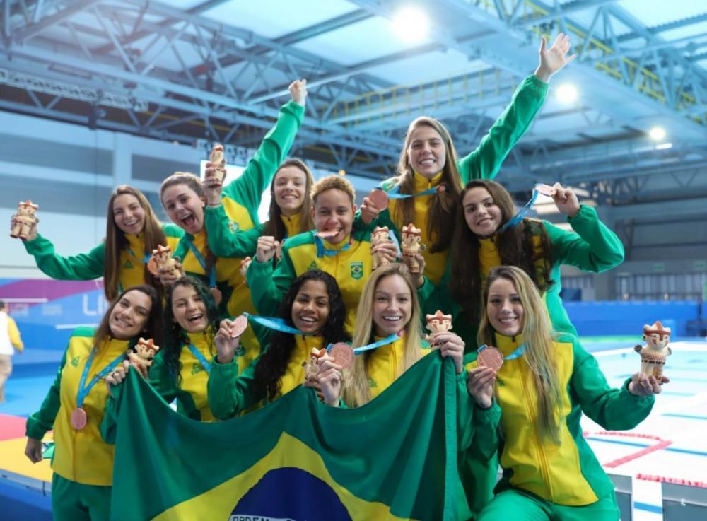 Seleção feminina de polo aquático conquista o bronze no Pan 2019