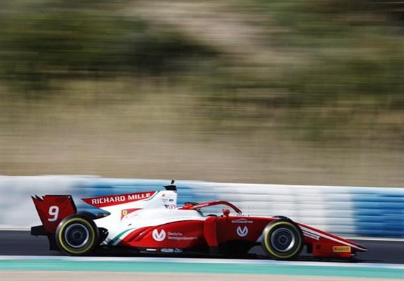 Mick Schumacher, conduziu a Prema à liderança em Jerez (Foto: FIA F2)