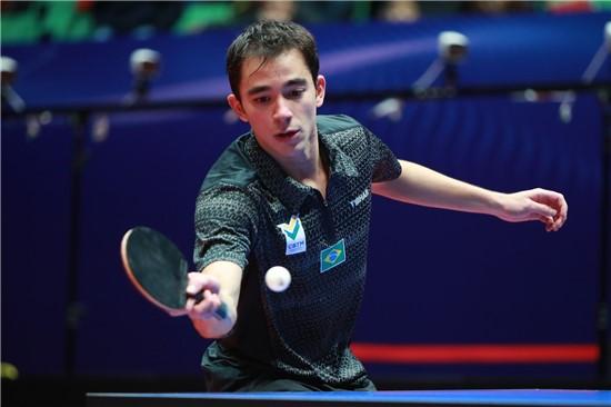 Hugo Calderano fez a melhor participação em competição major. Crédito: ITTF
