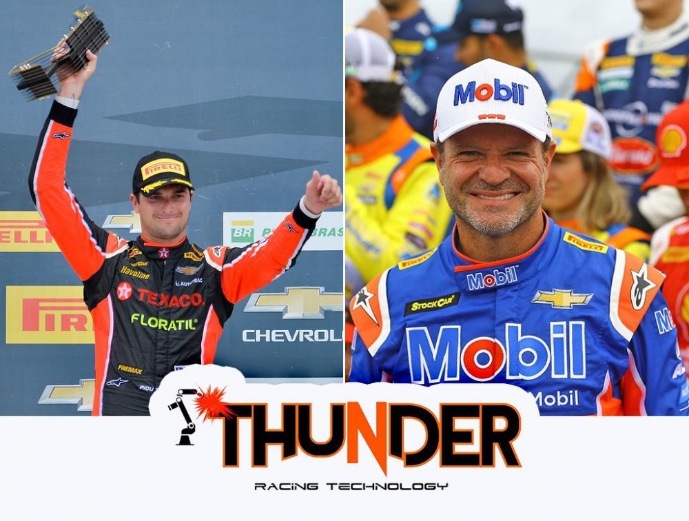 Nelsinho Piquet e Rubens Barrichello (Duda Bairros / Carsten Horst)
