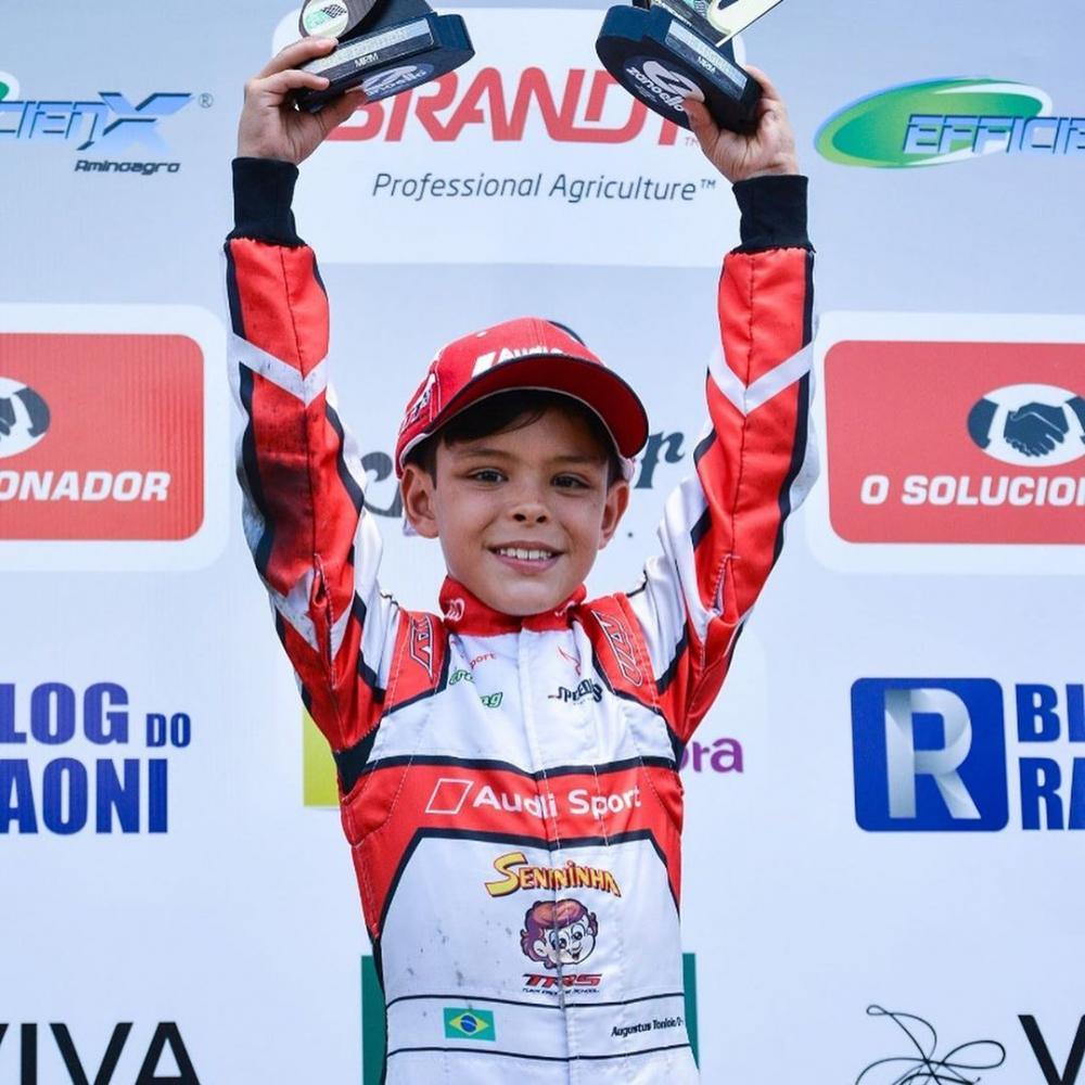 Augustus Toniolo no Paranaense de Kart (Reprodução/Instagram)