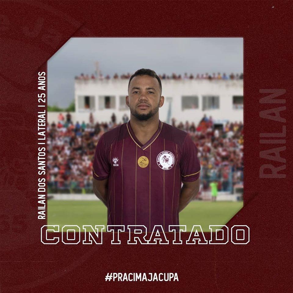 Jacuipense anuncia a contratação do lateral direito Railan, ex-Bahia