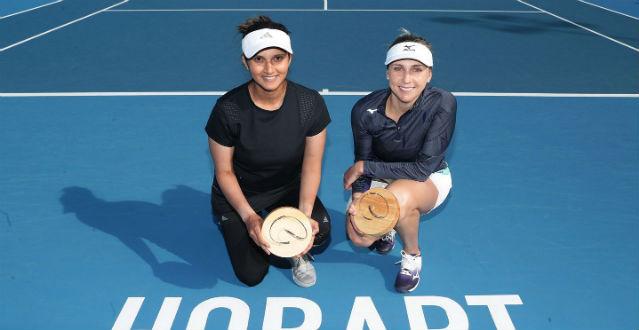 Mirza conquista em Hobart 1º título após maternidade