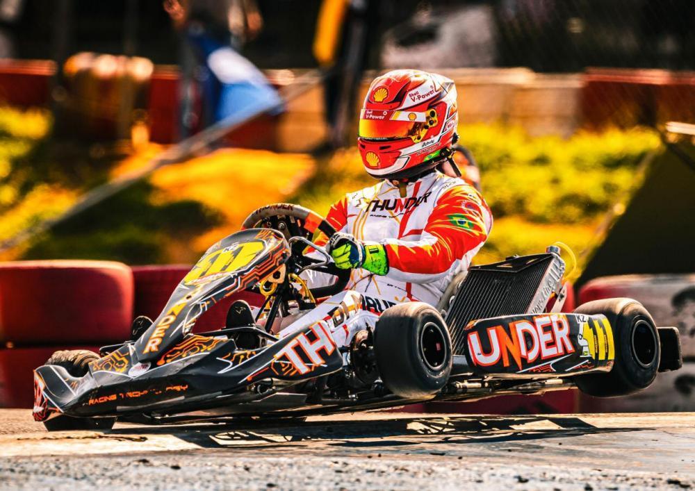 Gaetano Di Mauro venceu duas provas na Copa São Paulo de Kart (Bruno Gorski/RF1)