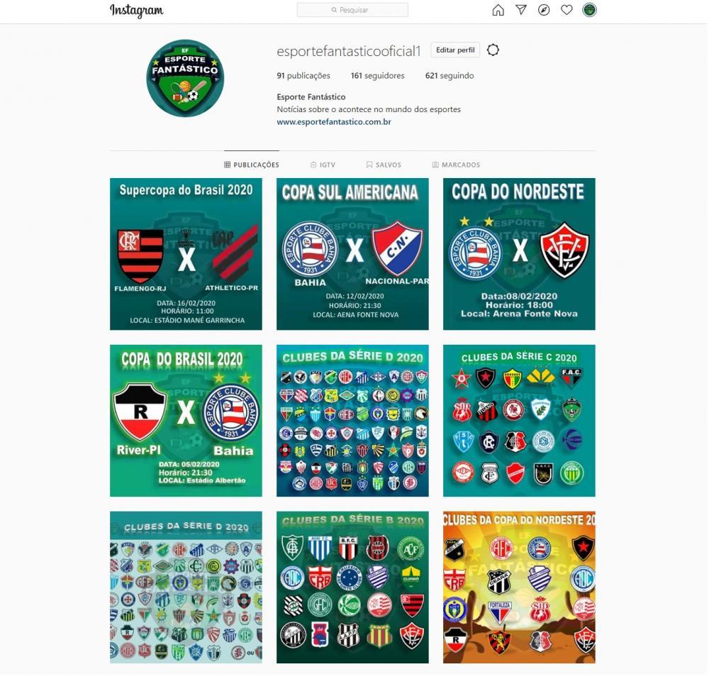 Siga o 'Esporte Fantástico.com.br' nas redes sociais
