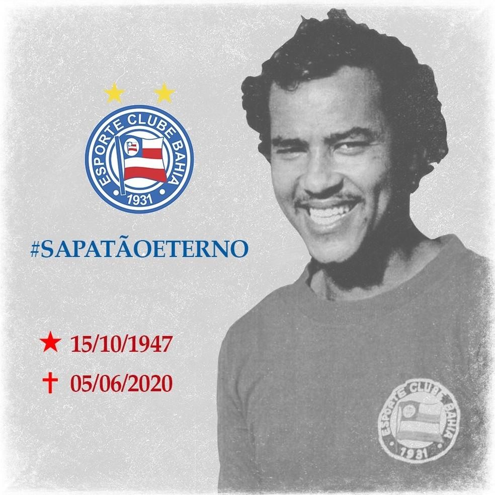 Ídolo do Bahia, ex- zagueiro Sapatão morre aos 72 anos, em Salvador