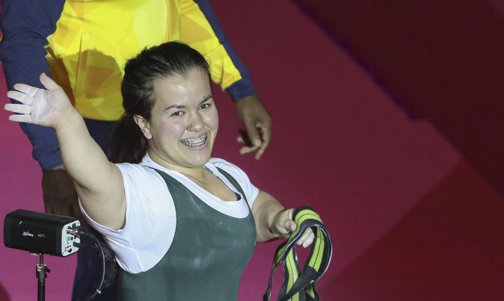 D'Andrea é 3ª melhor em torneio virtual de halterofilismo paralímpico