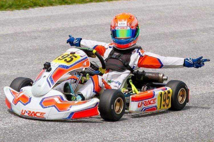 Atual campeão, Enzo Vidmontiene conquista vitória e pódios na abertura de campeonato de kart nos EUA