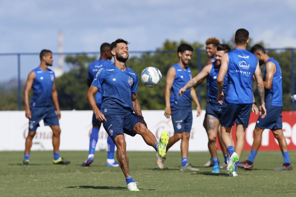 Bahia inicia mais uma semana com treino no CT Evaristo de Macedo