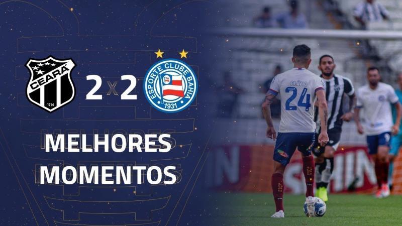 Ceará 2 x 2 Bahia os gols e Melhores Momentos pela 4ª rodada da Copa do Nordeste 2020