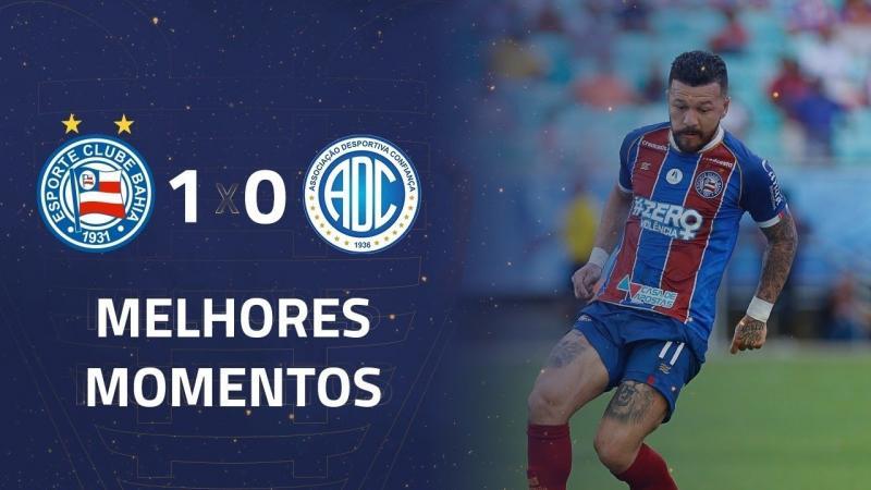 Melhores Momentos de Bahia 1 x 0 Confiançã-SE pela 6ª rodada da Copa do Nordeste 07/03/2020